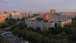 Residential urban area of Moscow city. Timelapse