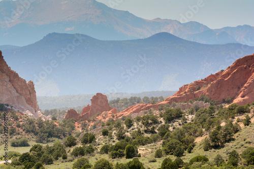 Garden of the gods, mountain landscape in Colorado