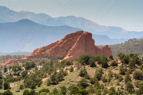 Garden of the gods, mountain landscape in Colorado