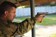 Military Soldier Training During Military Training