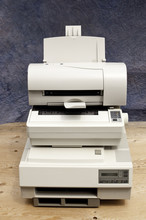 Stack Of Old Printers
