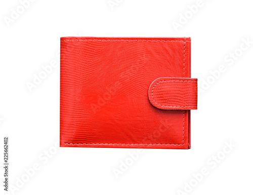 red wallet isolated on white background © qwasder1987