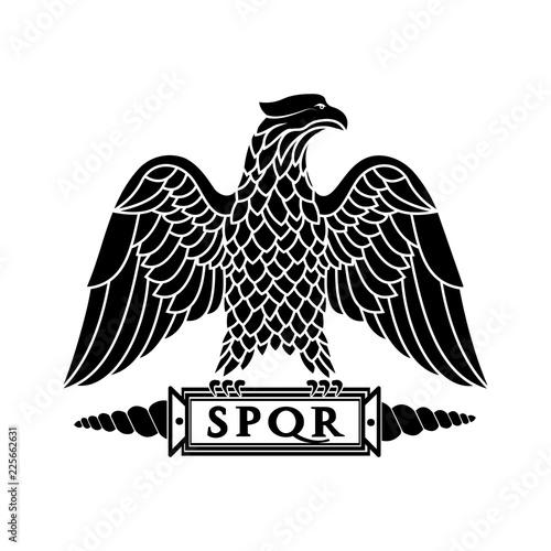Fototapeta premium Logo rzymskiego orła.