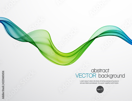 Fotobehang Abstract wave Abstract color wavy background