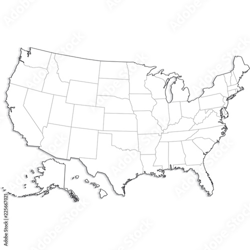 mappa stati uniti Wall mural