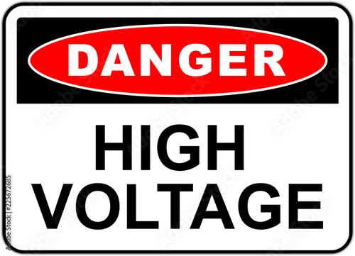 Pinturas sobre lienzo  Danger sign: high voltage
