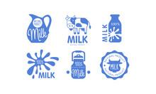 Milk Natural Products Logos Se...