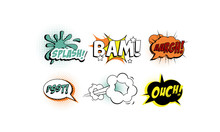 Bright Comic Speech Bubbles Se...