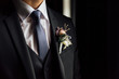 canvas print picture - tie, shirt and jacket of the groom