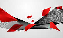 Abstract Red Black Background ...