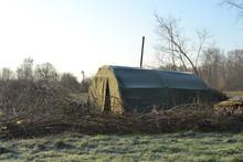 Groene Tent Met Houtkachel Van...