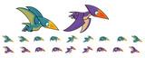 Fototapeta Dinusie - Dinosaur Game Sprites