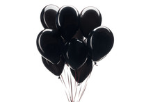 Bunch Of Black Balloons Isolat...