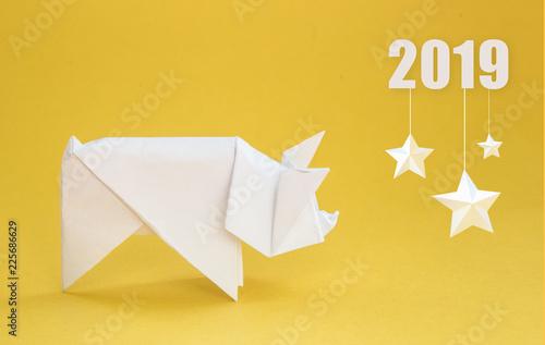 Origami Pig / Cerdo | Designed and folded by Javier Vivanco ... | 317x500