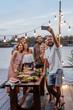 canvas print picture - Friends Taking Selfie
