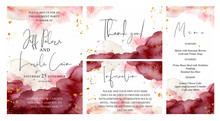 Burgundy, Pink And Gold Weddi...