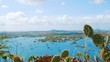Boats and yachts in the beautiful Spanish Waters, Caribbean, High Pan