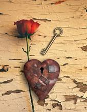 Rusted Love Heart