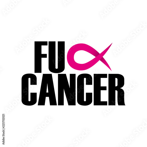 f2e99f3e8fa Fuck Cancer (Breast Cancer) - hand drawn Breast Cancer Awareness ...