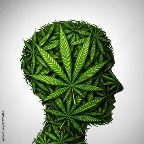 Marijuana Head Wallpaper Mural