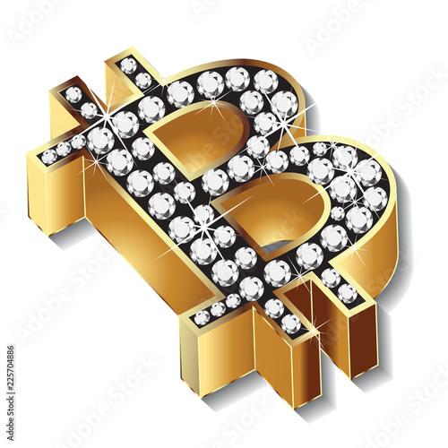Bitcoin gold bling bling vector design Wallpaper Mural