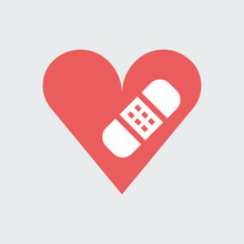 Silhouette Icon Heart With Band-aid