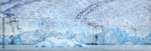 Closeup Panorama of the Dawes Glacier on Endicott Arm, Alaska