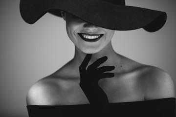 Elegant beautiful woman in ...