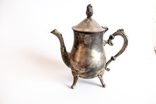 Vintage Teapot On A White Back...