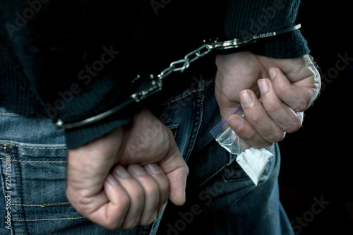 Fotografie, Obraz  police detention drug courier