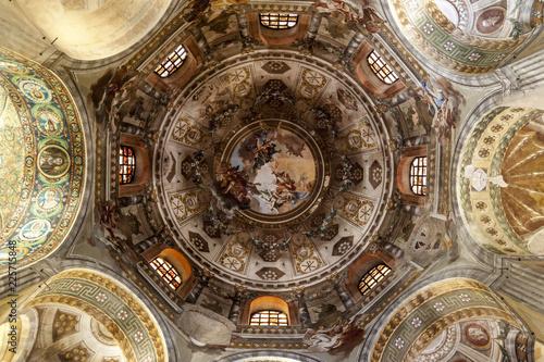 Fotografia, Obraz Cupola della Basilica di San Vitale, Ravenna