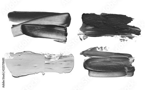 Abstract acrylic brush stroke. Isolated.