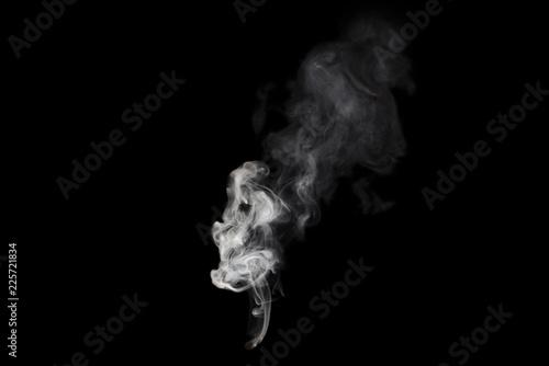 white smoke isolated on black