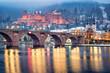 canvas print picture - Heidelberg im Winter, Baden-Württemberg, Deutschland
