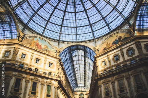 Staande foto Milan Gallery Vittorio Emanuele II, Milan, Italy.Gothic architecture. Steel and arches.