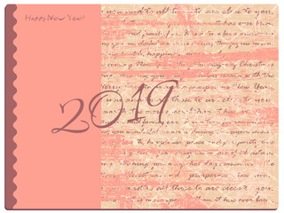 background with greeting text for new year and christmas. digits two thousand nineteen