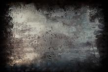 Black  Grunge Metal Textured W...