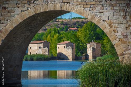 Panorama de la vieja y monumental de Zamora en España, Europa
