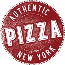 New York Pizza Vintage Sign