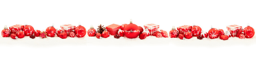 Obraz na Plexi Merry Christmas Greeting Card panorama background