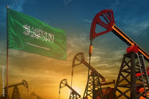 Saudi Arabia oil industry concept Wallpaper Mural