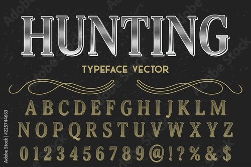 Fotografía  Vintage Font handcrafted vector script alphabet,design handwritten named bourbon