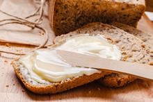Still Life Fresh Bread With Bu...