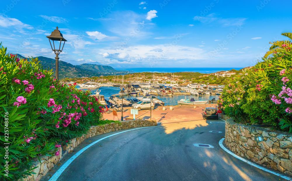 Fototapety, obrazy: View of harbor and village Porto Rotondo, Sardinia island, Italy.