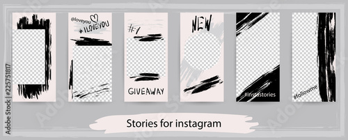 Canvastavla Trendy editable templates for instagram stories, vector illustration