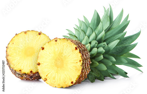 Half of pineapple fruit