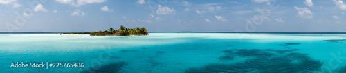 Maldives - Panorama de l'île d'Hamza - 225765486