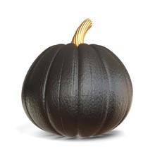 Black Pumpkin Halloween Sign 3D
