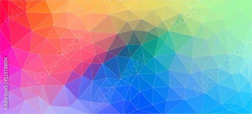 Flat multicolor geometric triangle wallpaper