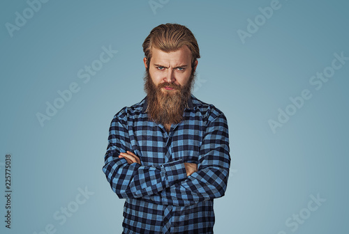 pissed off handsome man with arms crossed folded Canvas-taulu